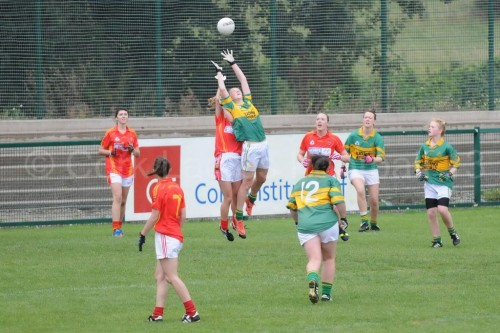 Kate Leneghan in action for St. Michaels in their Junior B S/F v Mallow