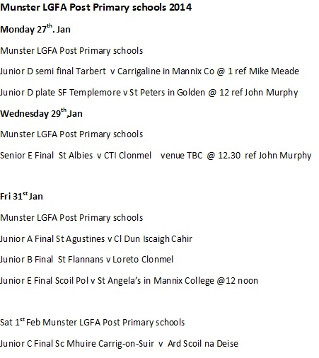 MLGFA Post Primary Fixtures