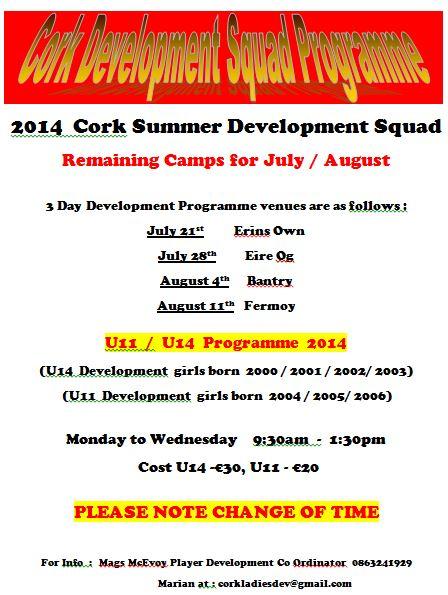 Summer Development Squad Flyer 2